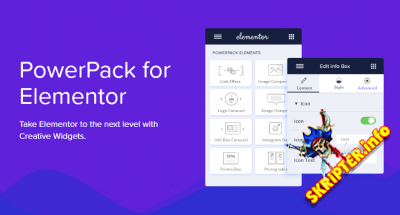 PowerPack for Elementor v2.6.0 Nulled - дополнения для конструктора веб-сайтов Elementor