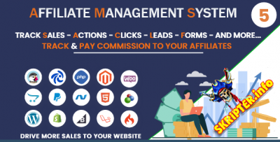 Affiliate Management System v5.0.0.2 - скрипт партнерской программы