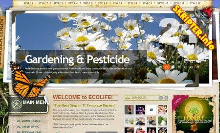 Ecolife joomla template