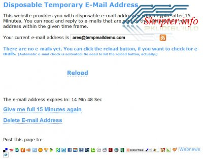 Disposable E-mail 1.0.1