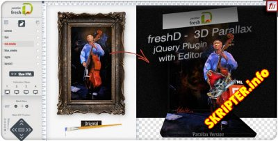 3D Parallax jQuery Plugin with Editor