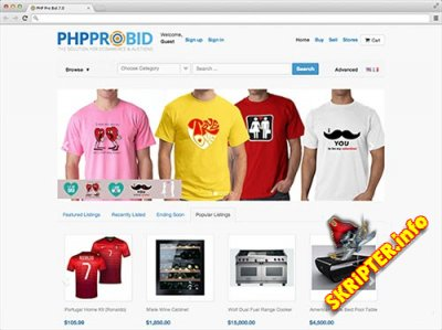 PhpProBid v.7.3 Nulled