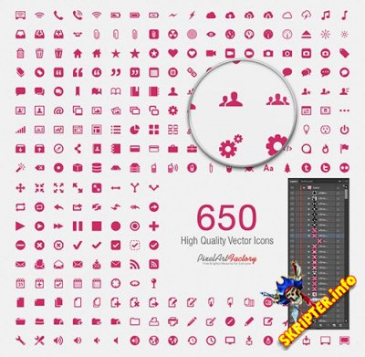 650 High Quality Vector Icons
