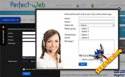 Ajax Popup Contact Form v3.2.22 Rus - ���������� ����� ��� Joomla