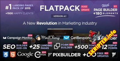 FLATPACK v4.1 � Landing Pages Pack With Page Builder